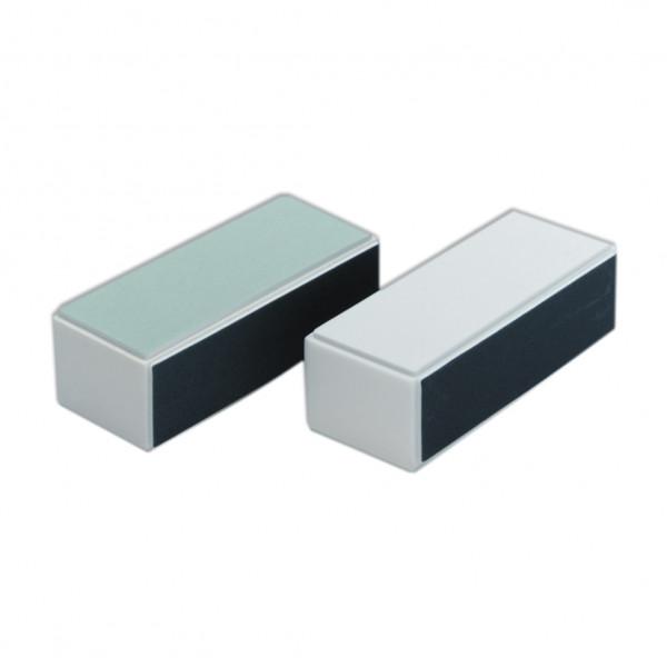 Flash Nail Shiner Pale Green Grey White Nail Buffer Block