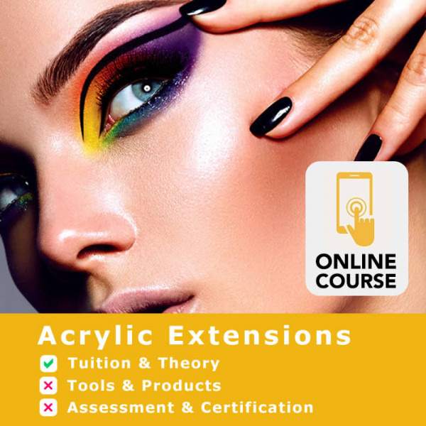 Acrylic nail extension course, online nail technician training from Essential nails