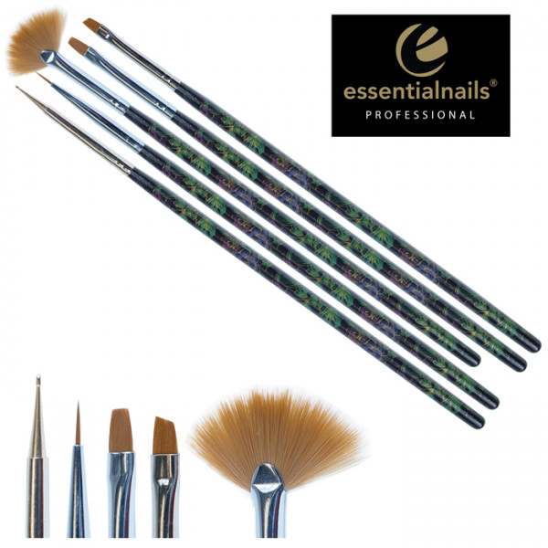 Nail Art Brush Set - Black