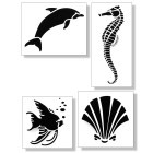 Stencil pack of 8